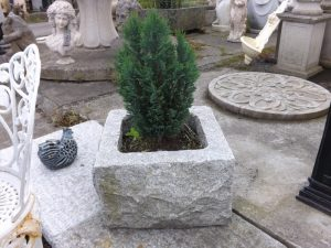 Reclaimed square granite trough