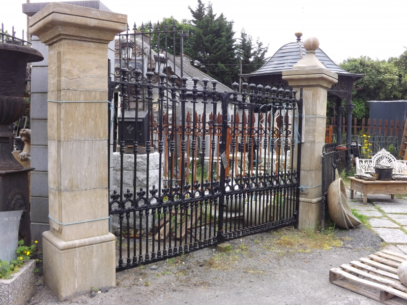 Cast Iron Gates and limestone pillars