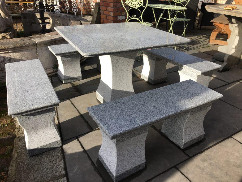 Granite garden patio set