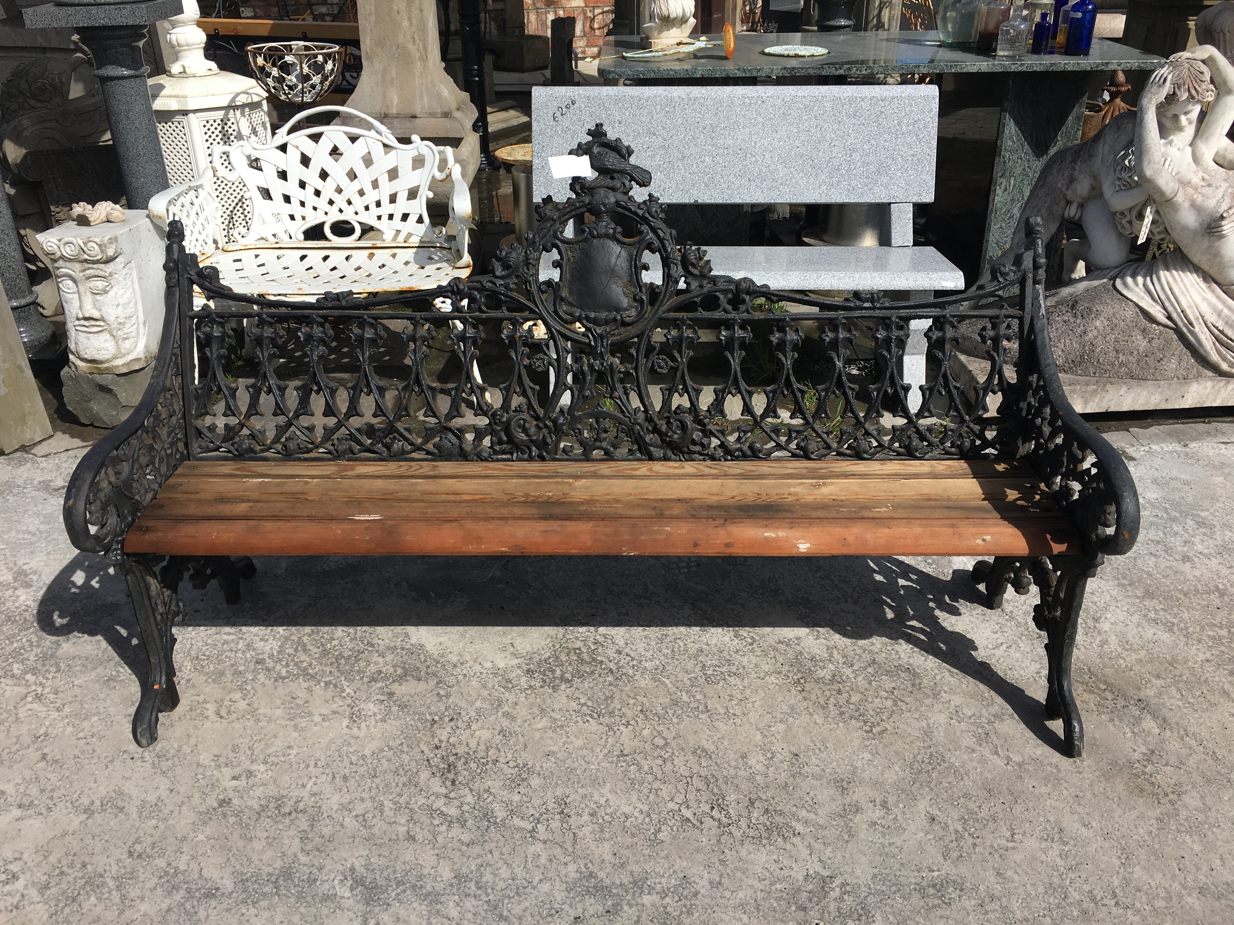 Large Cast Iron Bench Architectural Salvage Ireland